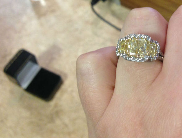Second hand engagement rings with John Weldon
