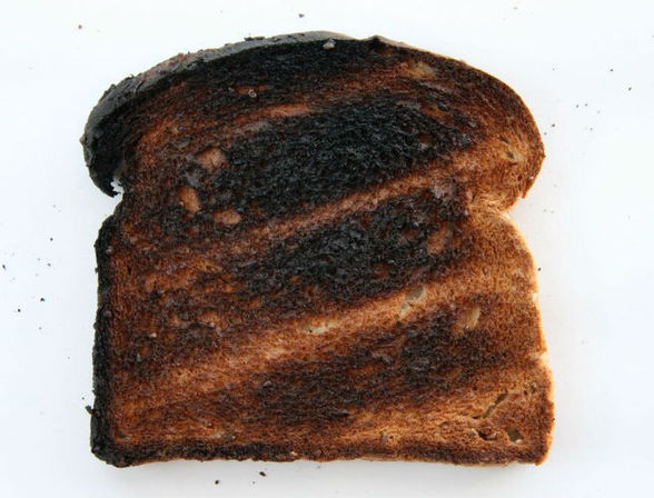 Toast that's a bit too brown may cause cancer, say authorities